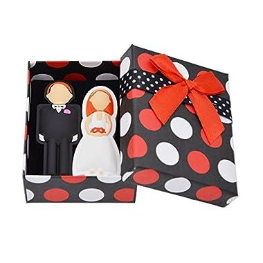 FEBNISCTE Wedding Gifts USB Flash Drive 8GB - a Groom & a Bride