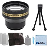 Pro Series XT2X30 30mm 2.2x Telephoto Lens with Deluxe Lens Accessories Kit for Sony HDR-CX360V Camcorder, Sony HDR-CX580V High Definition Handycam Camcorder, Sony HDR-PJ30E HD Flash Memory Camcorder, Sony HDR-PJ50V HD HDD Mobile Camcorder, Sony HDR-TD10 Full HD 3D Camcorder