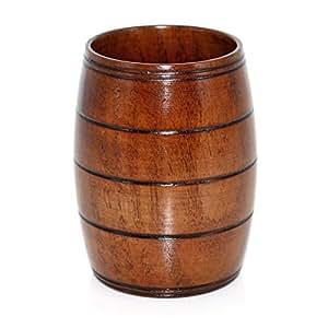 Aceite de sismos de madera jarra de cerveza, en forma de barril de cerveza, 350 ml
