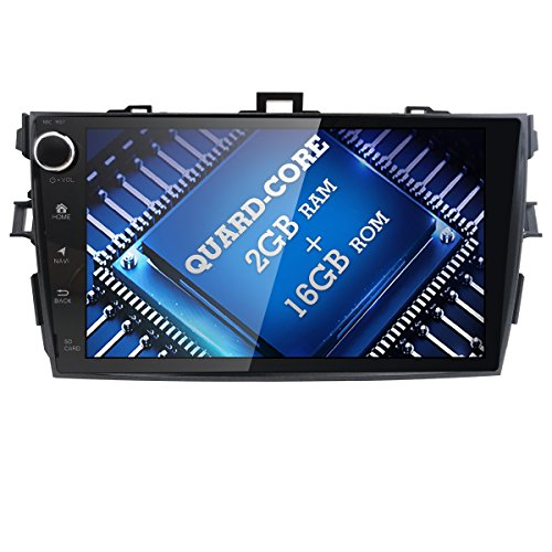 WiFi Android 7.1 GPS Stereo 9″ Car Video Player for Toyota Corolla 2007 2008 2009 2010 2011 Bluetooth,GPS,RDS,Radio Review