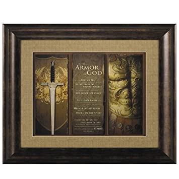 carpentree full armor of god framed art