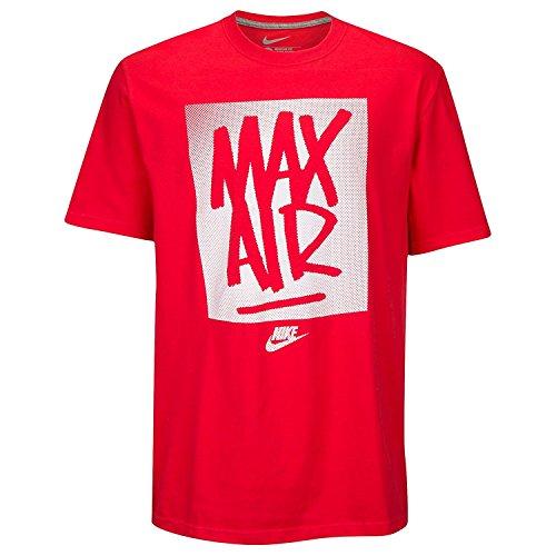 Nike Men's Max Air Tag T-Shirt Small Red Grey (Supreme Sb)