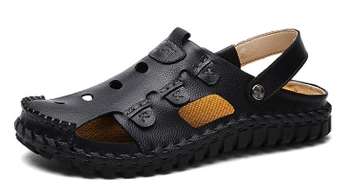 93943947 RESPEEDIME - Sandalias y zapatillas de piel para hombre: Amazon.com ...