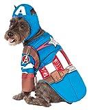 pet costume captain america - Rubie's Avengers Assemble Deluxe Captain America Pet Costume, X-Large