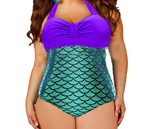 Zago Women's Plus Size Fashion One-Piece Swimsuit Bathing Suits 51Up0xC GSL