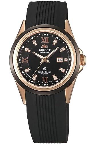 Orient Reloj Analógico para Mujer de Automático con Correa en Caucho FNR1V001B0: Amazon.es: Relojes