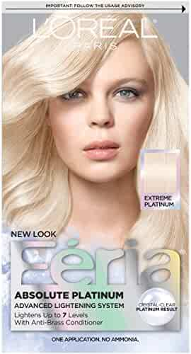 Feria Absolute Platinums Hair Color, Extreme Platinum (Packaging May Vary)