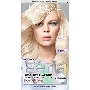 L'Oreal Paris Feria Absolute Platinums Hair Color, Extreme Platinum (Packaging May Vary)