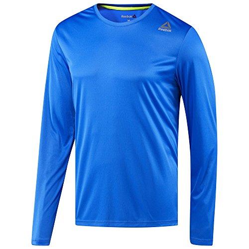 Reebok Mesh Polo Shirt (Reebok Running Long Sleeve T-Shirt Vital Blue Size Extra Large)