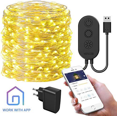 Dai vita al tuo albero di Natale o le decorazioni natalizie con il semplice tocco delle tue dita, utilizzando luci a led controllabili da app del cellulare.