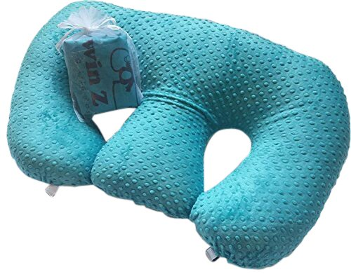 Twin Z Pillow + 1 Teal Cover + Free Travel Bag! by Twin Z