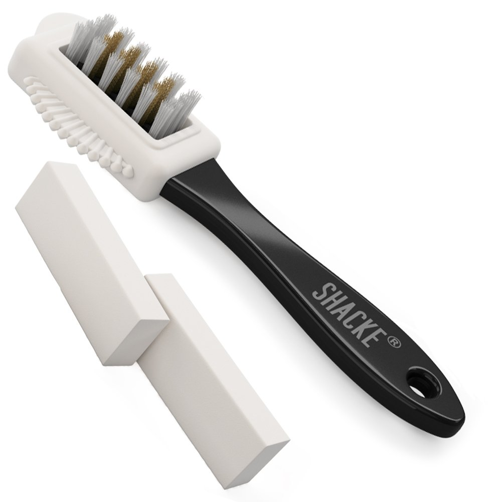 Shacke Suede & Nubuck 4-Way Leather Brush Cleaner + 2 Erasers