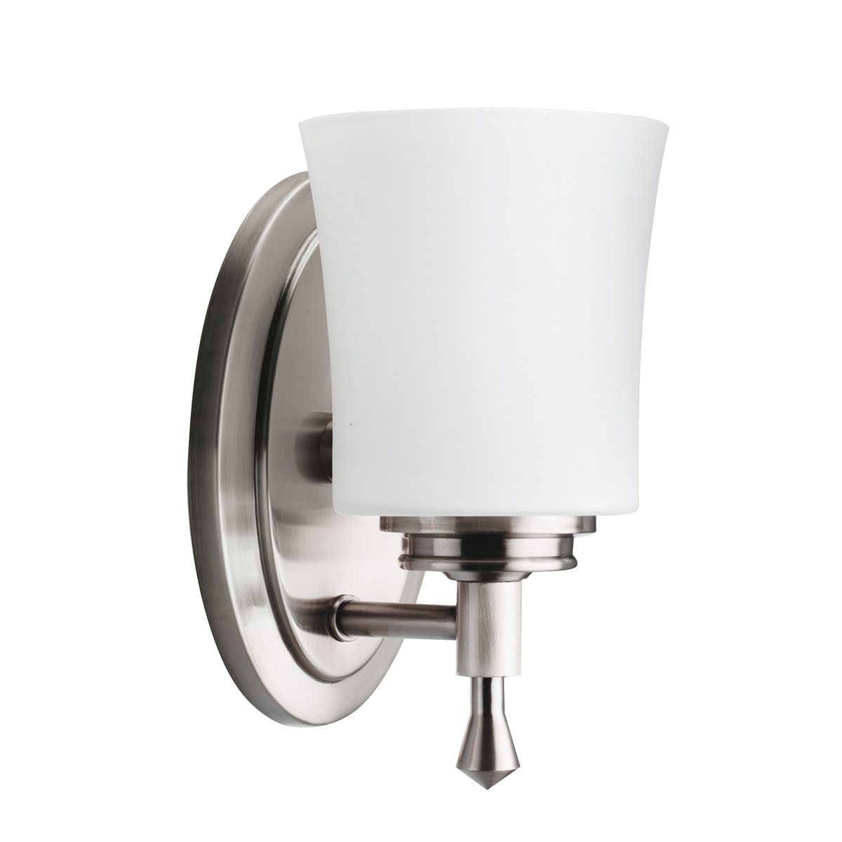 Kichler NI Wharton Wall Sconce Light Brushed Nickel Vanity - Satin nickel bathroom sconces