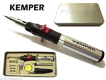 Kemper - Soldador de Gas multiusos con 8 accesorios y Box de aluminio, multifunción: Amazon.es: Coche y moto
