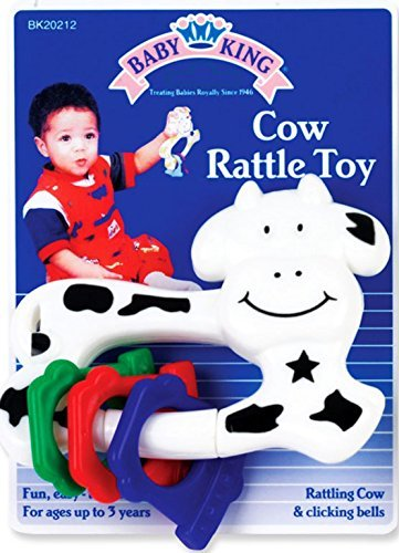 Cow rattle Toy, Rattling Cow & Clicking Bells, up to 18 - Cow Rattle