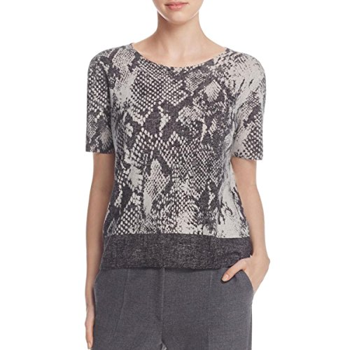 BOSS Hugo Boss Womens Wool Printed Casual Top Gray S by Hugo Boss (Image #1)