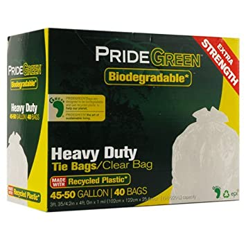 Amazon.com: pridegreen biodegradables 45 – 50 Gallon Heavy ...