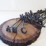 A-Z Alphabet Branding Irons - 26 Letters - Custom Cowboy Monogram - The Heritage Forge Wood Handles