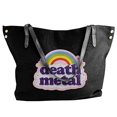 [Death Metal Rainbow Bags For Women Black] (Womens Army Costumes Australia)