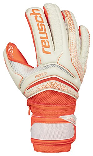 Reusch Soccer Reusch Serathor Pro G2 Evolution Ortho Tec Goalkeeper Glove, Orange/White, 8