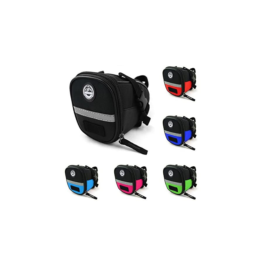 Social Ride Cycle Co. Bike Bag, Bike Pouch Under seat, Bicycle Accessories Bag