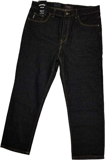 Amazon Com Original Deluxe Pantalones Vaqueros Para Hombre Talla 40x30 Color Negro Clothing