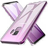 Galaxy S9 Case, LK Ultra [Slim Thin] Crystal Clear TPU Rubber Soft Skin Silicone Protective Case Cover for Samsung Galaxy S9 (Clear)