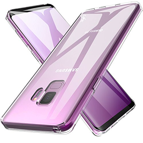 Galaxy S9 Case, LK Ultra [Slim Thin] Crystal Clear TPU Rubber Soft Skin Silicone Protective Case Cover for Samsung Galaxy S9 (Clear Silicone Skin Case)