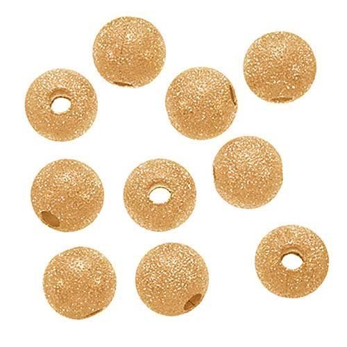 Beautiful Bead 20pcs 22K Gold Plated Stardust Sparkle Round Beads 10mm