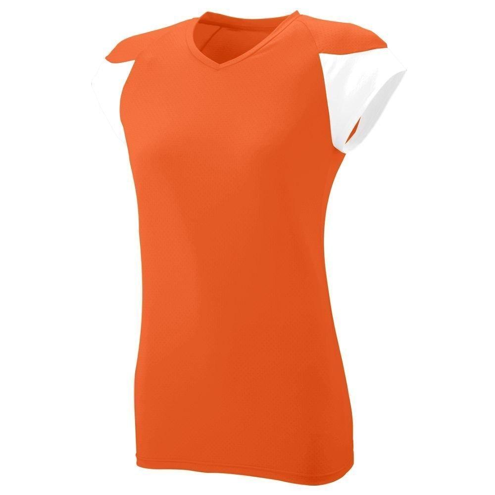 Augusta SportswearレディースMVPジャージー B00HJTLY6E Small|オレンジ/ホワイト オレンジ/ホワイト Small