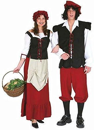 Disfraz SIRVIENTA granjera de campesino DISFRAZ SIRVIENTA vestido ...