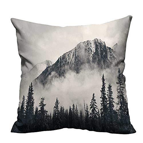 YouXianHome Decorative Throw Pillow Case Canadian Smokey Mountain