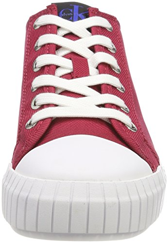 Calvin Noir Femme Sneakers Basses Rouge 000 Jeans Nylon Klein Bianca Drd agrqAaH