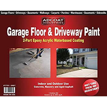Garage Floor Amp Driveway Epoxy Paint 1 Gallon Kit Grey