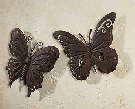 Deko Schmetterlinge Metall.Gartenfigur Aus Metall Schmetterling Aus Metall 2er