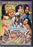 Tremendos Albureros [12 Sexy Comedias Picantes] 1-chile Picante/2-dos Camioneros Con Suerte/3-dos Machos Que Ladran No Muerden/4-el Adulterio Me Da Risa/5- El Agarra Todo/6-el Muerto Al Hoyo/7-el Sexologo/8-el Inocente Y Las Pecadoras/9-los Plomeros Y Las Ficheras/10-la Guerra De Los Sexos/11-la Taquera Picante/12-macho QUE Ladra No Muerde