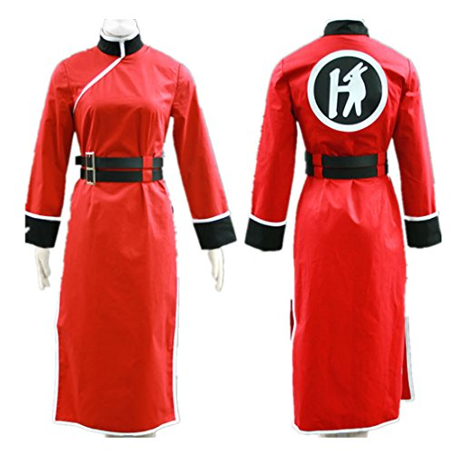 Love Jump Gintama Cosplay Costume-Leader Kagura Cheongsam 4th