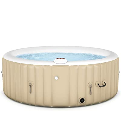 Goplus 4-6 Person Outdoor Spa Inflatable Hot Tub for Portable Jets Bubble Massage Relaxing with Accessories Set (4-Person, White) : Garden & Outdoor