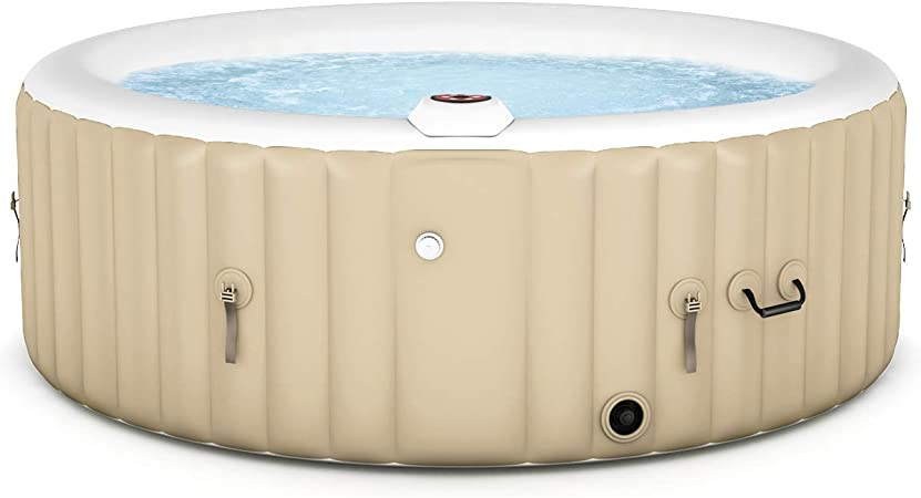 Amazon.com: Goplus - Bañera de hidromasaje inflable para 4 a ...