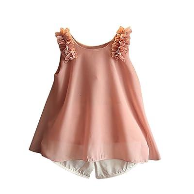Tianzek Little Girls Short Sets Floral Tank Tops Short Pants 2 Pieces Outfits