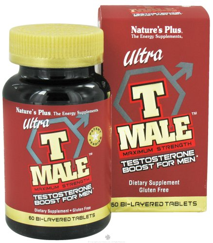 Plus 60 Tabs (Nature's Plus Ultra T Male 60 Bi-layered tablets - 2 Pack)