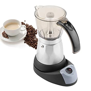480W Espresso Maker Electric, Mocha Coffee Maker Teapot 300ml 6 ...