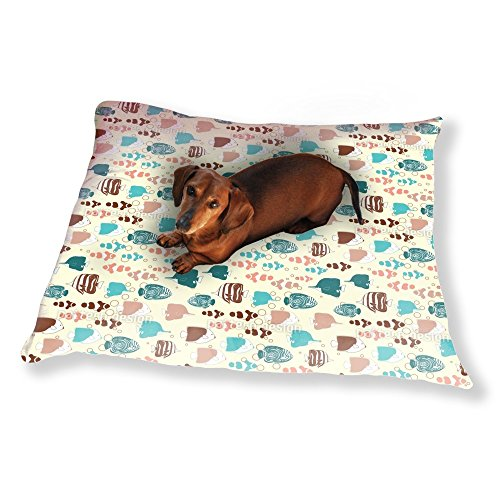 Tropical Fishes Gathering Dog Pillow Luxury Dog / Cat Pet Bed - The Gathering Diving