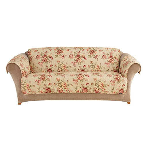 Floral Slipcover - Sure Fit Furniture Friend Pet Throw - Sofa Slipcover - Lexington Floral Mul (SF39902)