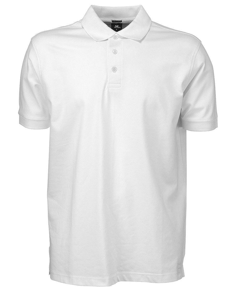 Tee Jays Polo elástico Hombre Blanco Blanco L: Amazon.es: Ropa y ...