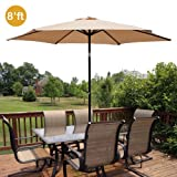 Cheap GotHobby 8ft Outdoor Patio Umbrella Aluminum w/ Tilt Crank – Tan