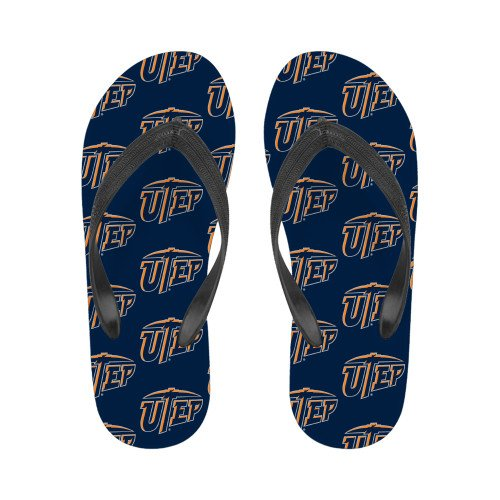 Utep Dames Full Color Flip Flops Primaire Universiteitsmerk