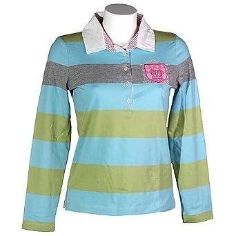 save off ebe00 e9656 Jette Joop, 486111, langarm Polohemd Poloshirt mit Strass ...