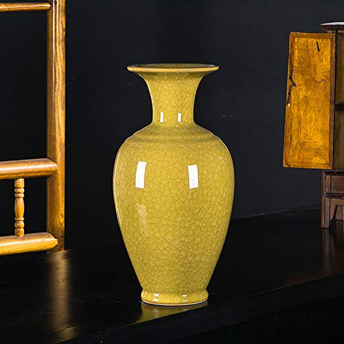 caoleijingpin Creative vase Decoration Wine Cabinet Decoration Restaurant Flower Arrangement Jingdezhen Ceramics Wedding Gift Golden Bell Bottle ()