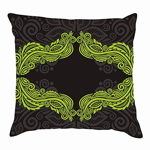 Mysterious Marine Ghost Like Fish fin Holidays Anchor Home Decorative Throw Pillow Case Cushion Cover for Gift Home Couch Bed Car 18